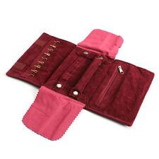 Velet Travel Jewelry Case Roll Bag Organizer For Necklace Bracelet Earrings Ring