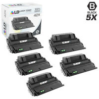 LD Compatible Replacements for HP 42X / Q5942X 5PK HY Black Toner Cartridges