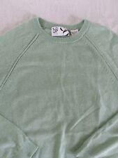 BARNEYS 100% cashmere seafoam green raglan sleeve sweater LARGE