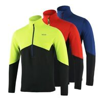 Men's Running T Shirts Active Long Sleeves Quick Dry Workout GYM Training Jersey