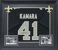 Saints Alvin Kamara Authentic Signed Black Framed Jersey BAS Witnessed