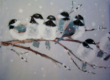 Laura Ashley Winter Birds Steel King Size Duvet Cover & 2 Pillows Cases