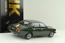 1977 BMW 733i 733 E23 dunkelgrün metallic 1:18 KK diecast