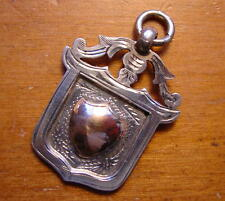 Lovely Hallmarked Silver Watch Fob Pendentif Médaille Chester 1929