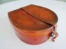 Vintage Collar Box Case Horse Shoe Leather 1930s Gentlemans Stiffened Shirt Mens