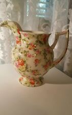 RARE Lord Nelson Ware Pitcher Jug  Chintz ware red pink yellow roses