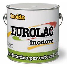 Smalto Sintetico Lucido Inodore Eurolac Laiv colore Grigio Medio 0,375 Lt.