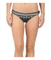 Amuse Society Womens 245512 Amalia Bandana Everyday Bottom Black Swimwear Size M