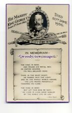 r1939 - King George V  in Memoriam - postcard