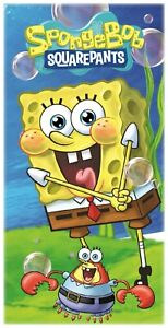 Spongebob Squarepants Mr Crabs Kids Children Beach Towel 100% Cotton