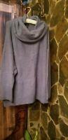 Joan Vass Tunic cowl neck Light Purple 3xl Pre Owned