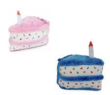 2-Pack ZippyPaws - Birthday Cake Squeaky Dog Toy Set, Pink & Blue-Free Shipping