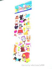 Sticker Shar Pei Animal Lot Kids Crafts 1 Sheet 3D Pvc Puzzle Study Reward New #