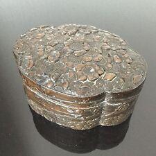 Coffret Fin XIXè en Bronze Patine Brune Indochine Victorian Asian Jewel Box 19C