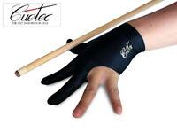 Premium New Cuetec Pool Cue Stick Glove- 3 Finger On Left hand( Black, Blue)