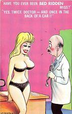 POSTCARD   COMIC   BAMFORTH   COMIC  Medical   Pretty  Girl  Bed  Ridden