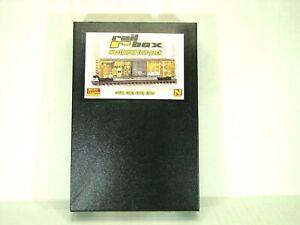 MICRO-TRAINS LINE N SCALE WEATHERED 50' RIB SIDE BOX CAR 4 PACK RAILBOX 99305910