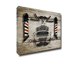 Barber Shop Canvas Picture Wall Hanging Barbershop Wall Art Decor Poster Print