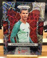 2018 PANINI PRIZM WORLD CUP SOCCER LAZER REFRACTOR Cristiano Ronaldo #154  🔥