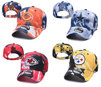 New Era NFL Teams Marbled Team Tie Dye Adjustable 9TWENTY Sideline Hat Cap
