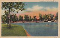 Postcard Crystal Lake Grand Island Nebraska NE
