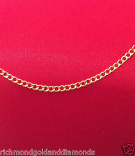 "10k Italian Yellow Gold Solid Cuban Link Chain Necklace 3MM 22"" 22 inch 3 MM"