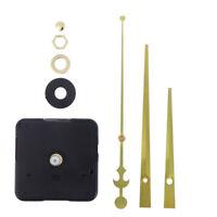 Quartz Wall Clock Movement Mechanism Repair Parts DIY Kit Spindle+Hands Silent