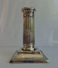 BOUGEOIR COLONNE ANGLAIS EN ARGENT - STYLE NEO CLASSIQUE 1903