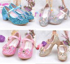 Kids Girl Lined High Heels Frozen Princess Aisha Shoes Dance Girls Shoes Novelty
