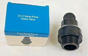2-n-1 Sump Pump Check Valve 1-1/2 Thread to sump pump Star Water Systems 148101