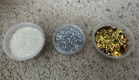 FREE SHIPPING Chunky Gold, Silver, And White Glitter For Crafts