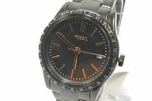 Fossil BQ3441 Adalyn Three-Hand Date Black Stainless Steel Ladies Watch