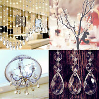 10pc Clear Teardrop Glass Beads Chandelier Festival Hanging Ornaments Xmas Party