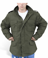 Men's Olive M65 US Field Military Jacket Combat Army Quilted Parka Work Coat