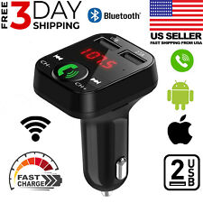 2 USB In-Car Adapter Bluetooth Wireless FM Transmitter Radio MP3 Car Kit Charger