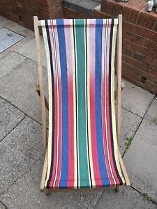 Vintage Traditional Wooden Folding Wooden Deck Chair