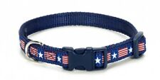 Douglas Paquette AMERICANA Nylon & Ribbon Adjustable Dog Collar Harness