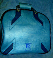 VTG Retro Rockabilly EUC Brunswick Blue Single Bowling Ball Bag Case