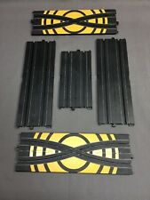 """Life Like Racing Replacement Part: 9"""" 6"""" Straight Track + Crossovers Lot x 5"""