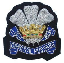 10th Royal Hussars, Blazer Badge Wire Bullion, LI-EMB-0025