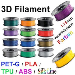 3D Drucker Filament 1kg Rolle PLA TPU ABS PETG PLA+ 1,75mm Printer Spule ⚫️🔴🟠