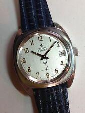 Montre Vintage Pronto Sportal SR Acier Date Unitas 6425 21600 20atm 17j Incabloc