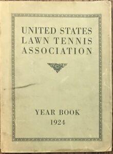 United States Lawn Tennis Association Year Book 1924 - Scarce