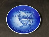 Bing & Grondahl  B&G 1975 COUNTRY AT THE OLD WATERMILL Christmas Plate-Denmark