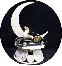Mercedes BENZ AUTO MECHANIC WEDDING groom CAKE top TOPPER Racing Mussel Car