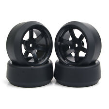 4X1:10 RC Drift Tire &12mm Hex Wheel Rims For HPI HSP On-Road Car PP0072/370