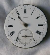 Electra Movement Pocket Watch - Roman Numbers - For Repair Or Parts - Swiss -