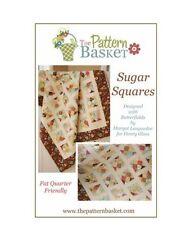 SUGAR SQUARES The Pattern Basket QUILT PATTERN Moda Fat Quarter Quilt