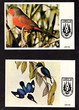 Birds on Postal Envelopes and Postal Cards