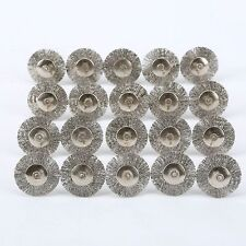 Set of 20pcs Stainless Steel Wire Wheel Brushes Polishing Rotary Tool for Power